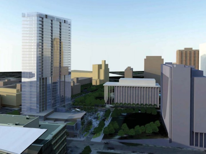 Plans for a Shorter Tower on Nicollet Hotel Block Reported