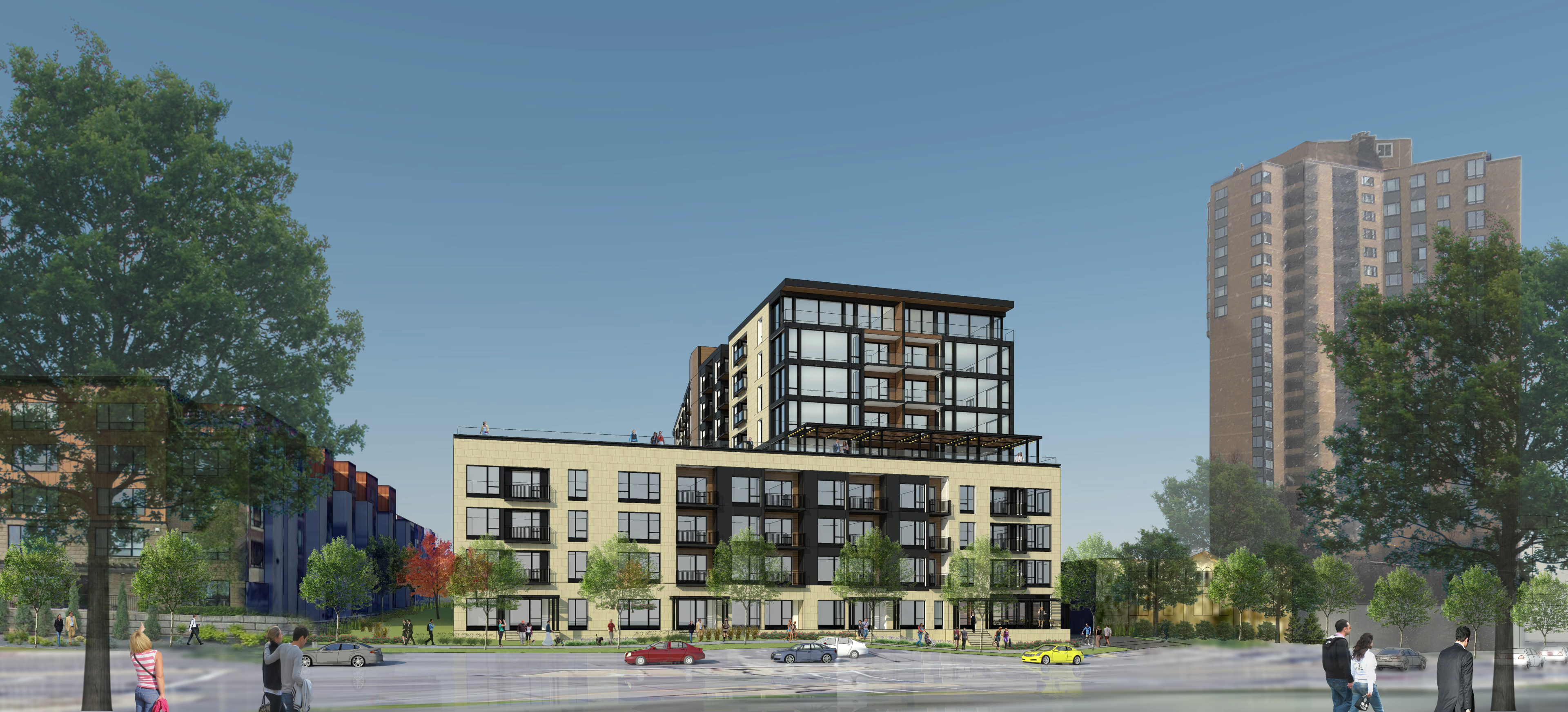 Brickstone Partners 3100 Lake Street proposed 9-story scheme (Photo: Business Wire)